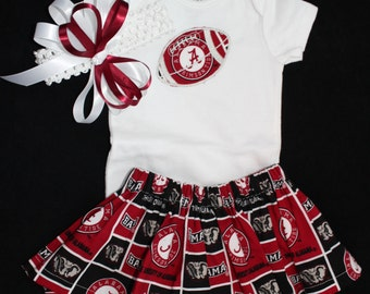 Alabama girl's 3pc Bodysuit set
