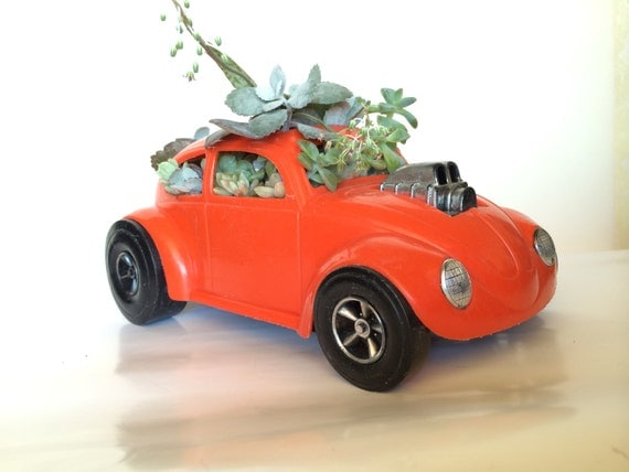 Vw Bug Succulent Planter Toy Car Centerpiece Planter 1970s Vw