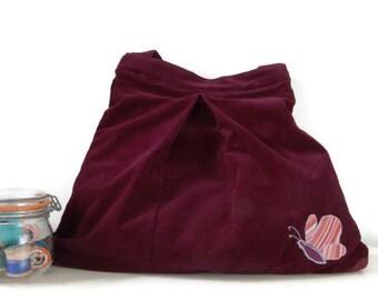 Purple Recycled Shoulder Bag, Eco Bag, Tote - SALE