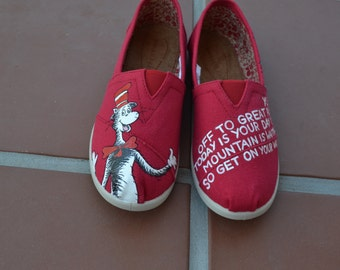 Cat in the Hat Handpainted TOMS