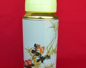New Old Stock 80's Thermos - Vintage Thermos - Coffee Thermos - Cup Thermos - Tea Thermos -Travel Thermos 20oz/0.62lt SUNFLOWER China  Nr36