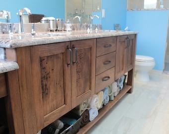 White Walnut Bathroom Vanity