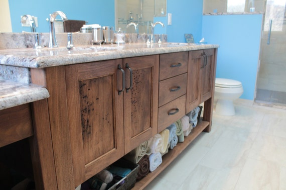White Walnut Bathroom Vanity