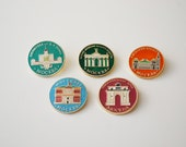 USSR vintage pins / Vintage USSR badges / MOSCOW pins / set of 5 pieces
