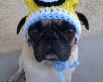 Minion-Dog Hat-Minion Hat for Dogs-Cute dog Hats-Pugs