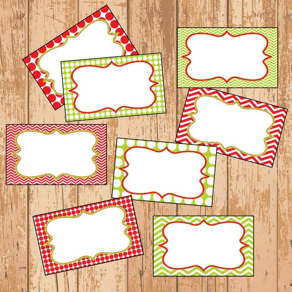 ... Christmas Labels - Gift Tags - Printable PDF - EDITABLE - Instant