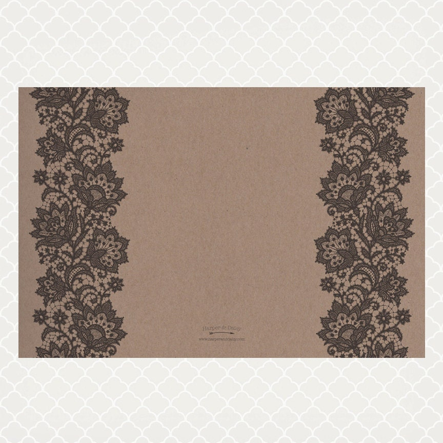 Vintage lace paper placemats for Table mats design your own