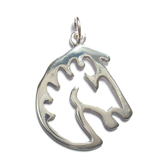 sale sterling silver horse head pendant equestrian jewelry