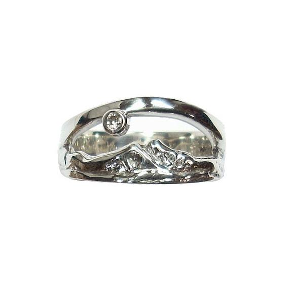 peaks ring ring wedding band mountain ring