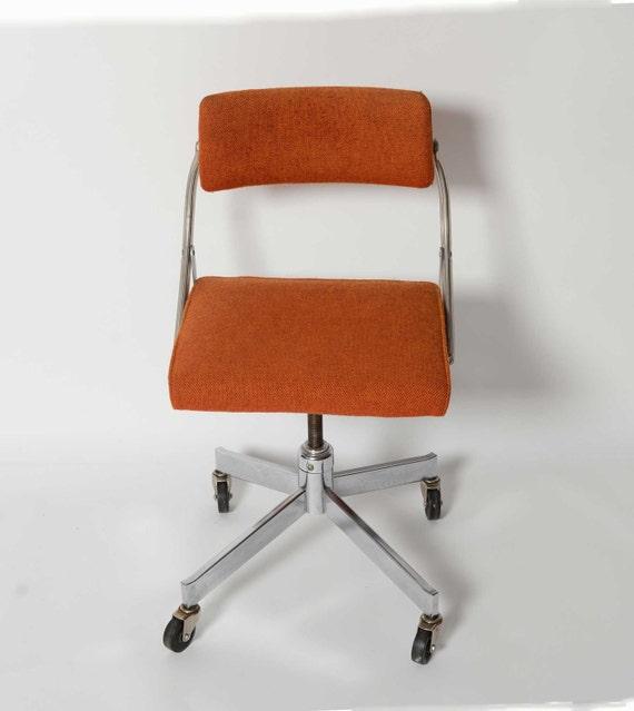 Domore fice Chair Mid Century Modern Industrial Steel Chic Orange