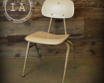Vintage Industrial Mid Century Modern White Desk Chair Irwin Seating Co. Office