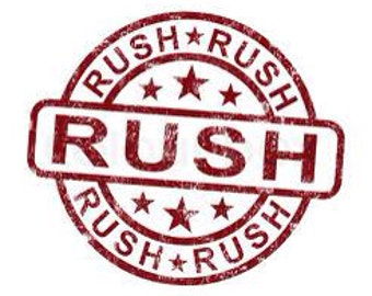 Rush Order Fee (1-2weeks)