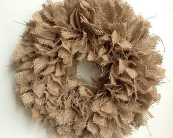 "17"", Coastal Living, Spring Wreath, Beach Wreath, Summer Wreath, Fall Wreath, Everyday Wreath, Burlap Wreath, Thanksgiving Wreath"