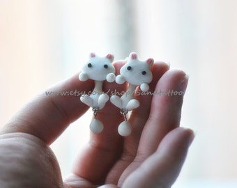 New -Design 1 Pair Of Adorable Rabbit Dangling Earrings, Chomper Earring, Unique Earrings, Cute Earrings, Ninja style