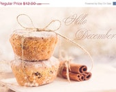 Hello December, sweet winter photography, christmas kitchen decor, food, cakes cookies, still life, soft pastel, rustic photo 5x7 print