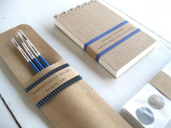 DIY Watercolour Paint Pocket Size Journal // by thenaturewalk