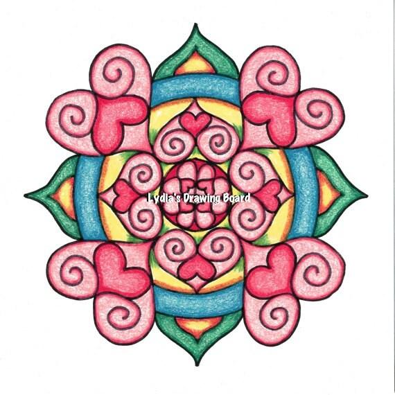 Note Cards, Notecards, Blank Cards, Birthday Card, Love Cards, Cards, Mandala Art, Small Art, Mandala Print, Valentine, Valentine Card, Love