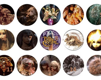 2 sheets. The Dark Crystal. 1 inch circle images. Awesome for bottle caps