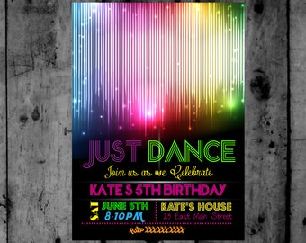 Disco Ball- Just Dance - Disco- Dance Party- TWeen- Diva Birthday Printable Invitation