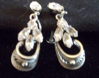 CLEARANCE SALE - 1950s costume jewelry earrings
