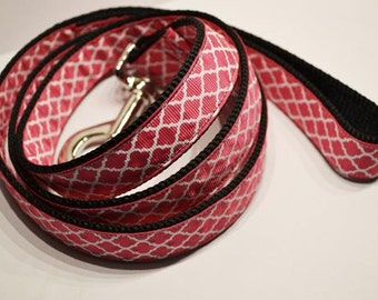 "1""  Pink Moroccan Dog Leash"