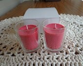 Two  Votive Soy  Candles In Glass Votive Holders  Two for Four Dollars and Fifty Cents