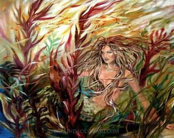 Mermaid art- Seaweed Mermaid