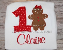 Personalized Girngerbread Girl Creeper - T-shirt - Birthday - Christmas