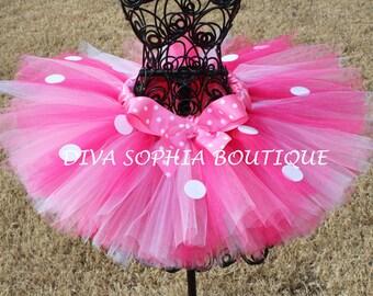 Pink Minnie Mouse Tutu - Birthday Minnie Mouse Tutu