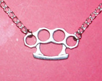 NEW ITEM - Brass Knuckles Dusters Necklace