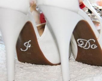 I DO , ME Too Bridal Shoe Sticker, Silver Crystal Sticker I Do for Bridal Shoes, Rhinestone Applique I Do Wedding Shoes Accessory