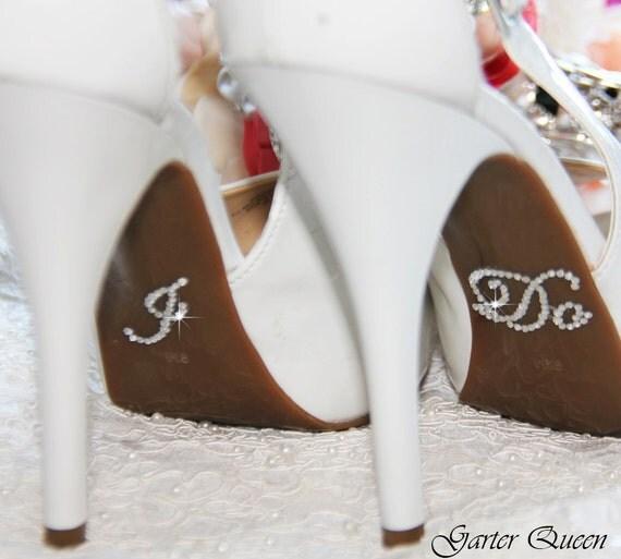 I DO ME Too Bridal Shoe Sticker Silver Crystal Sticker I Do
