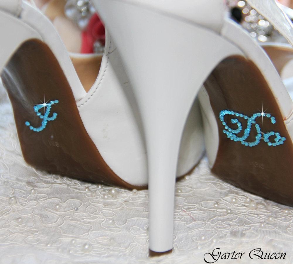 I DO Sticker For Bridal Shoes Something Blue Rhinestone I Do