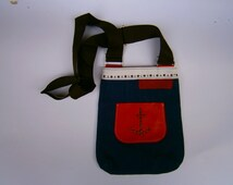 Sailor's Bag, Denim Bag, Denim and leather bag, Handmade Leather Bag, On Stock Ready To Go bag