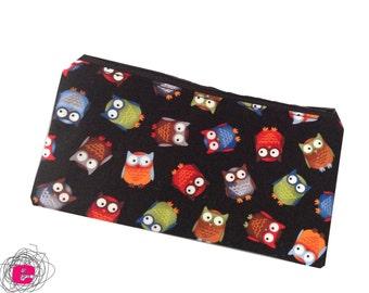 Pencil Case owls, Zipper Pouch owls