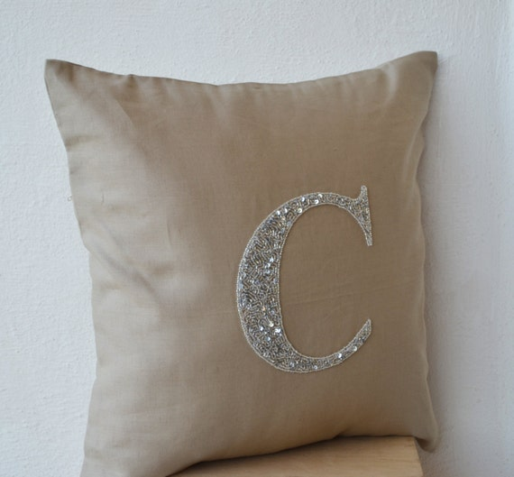 Silver Beaded Decorative Pillow : 301 Moved Permanently