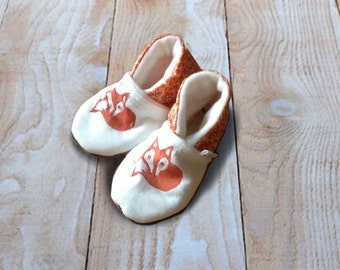 Cute Little Fox Baby Booties