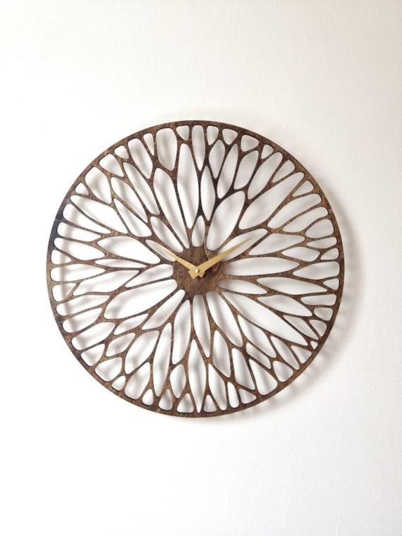 Wandering Clock. Mid Century Modern, Laser Cut, Wood, Wall, Art, Decor, Clock