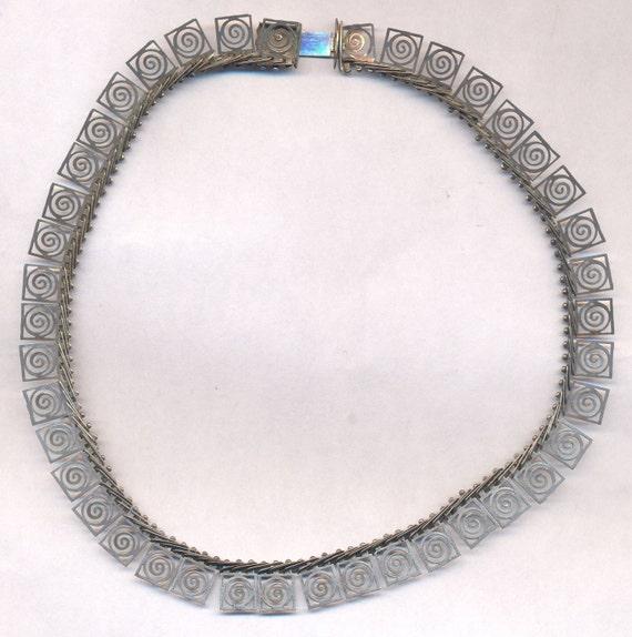 Sale Vintage Art Deco Necklace Sterling Necklace Greek