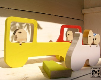 TRAFFIC - wooden set toys with book