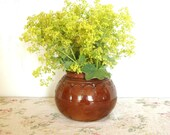 Beautiful Vintage Vase, Clay interior Decor, Brown