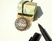 Kree Necklace Geometric Flower Design Happiness Symbolism Henna Mehndi Vintage Style Hand Drawn Handmade Jewelry