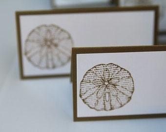 Sand Dollar Wedding Place Cards, Wedding Food Labels, Beach Wedding Decorations