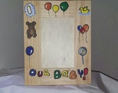 Wooden picture frame, Baby or child picture frame, Baby shower gift