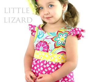 Pattern - Fairy Flutter Dress / Top Paper Sewing pattern by Little Lizard King
