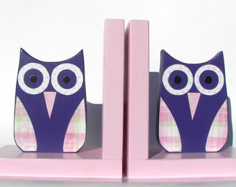 Owl Bookends, Childrens Room Decor, Book Accessories, Nursery Decor, Childrens Bookends, Kids Bookends