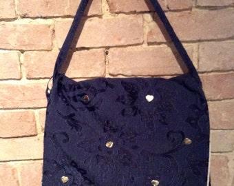 Large blue decorative bag