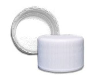 White 24/410 Standard Non-Dispensing Cap - 10 Pack