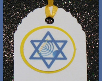Hanukkah gift tags, Hanukkah favor tags, Hanukkah party tags, Hanukkah Gelt Tags set of 10