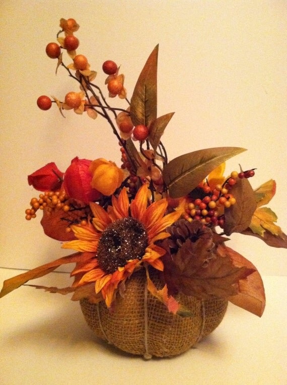 Items similar to fall harvest centerpiece decor